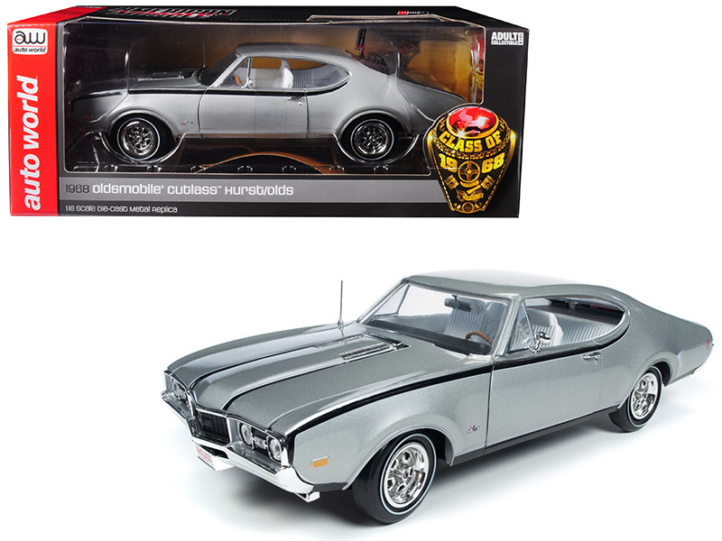 1968 Oldsmobile Cutlass Hurst Olds Silver Class 68 50th Anniversary Limited Edition 1002 pieces Worldwide 1/18 Diecast Model Car Autoworld AMM1143