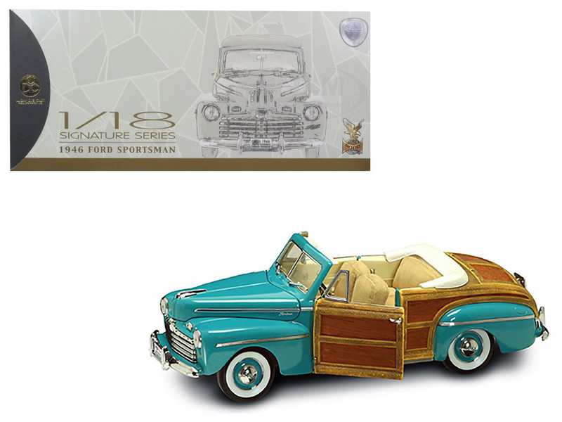 1946 Ford Sportsman Woody Green 1/18 Diecast Model Car Road Signature 20048