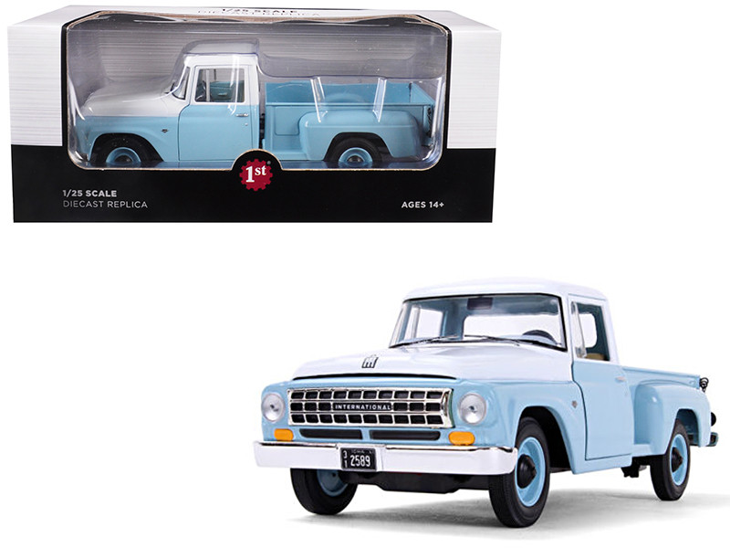 International C1100 Pickup Truck Seascape Blue White Top 1/25 Diecast Model Car First Gear 40-0421