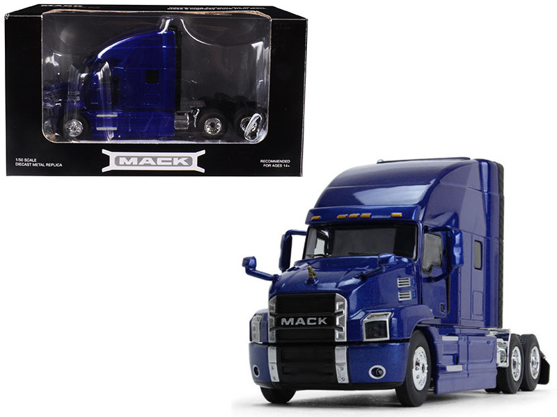 Mack Anthem Sleeper Cab Cobalt Blue 1/50 Diecast Model First Gear 50-3401
