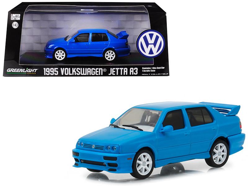 1995 Volkswagen Jetta A3 Blue 1/43 Diecast Model Car Greenlight 86323