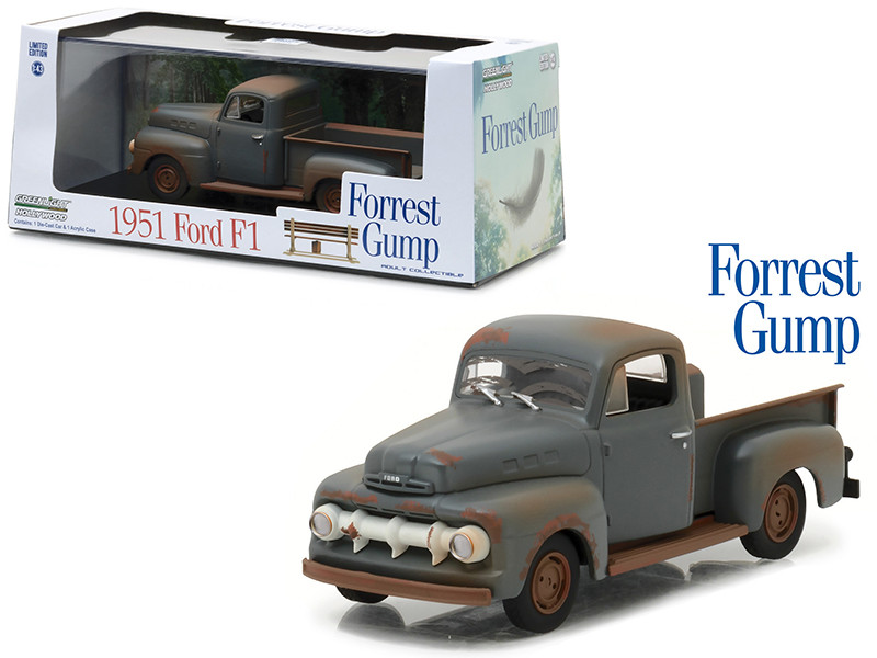1951 Ford F-1 Pickup Truck Run Forest Run Forest Gump 1994 Movie 1/43 Diecast Model Car Greenlight 86514