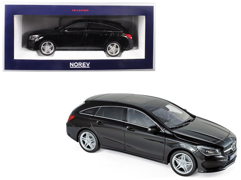 2015 Mercedes CLA Class Shooting Brake Wagon Black 1/18 Diecast Model Car Norev 183598
