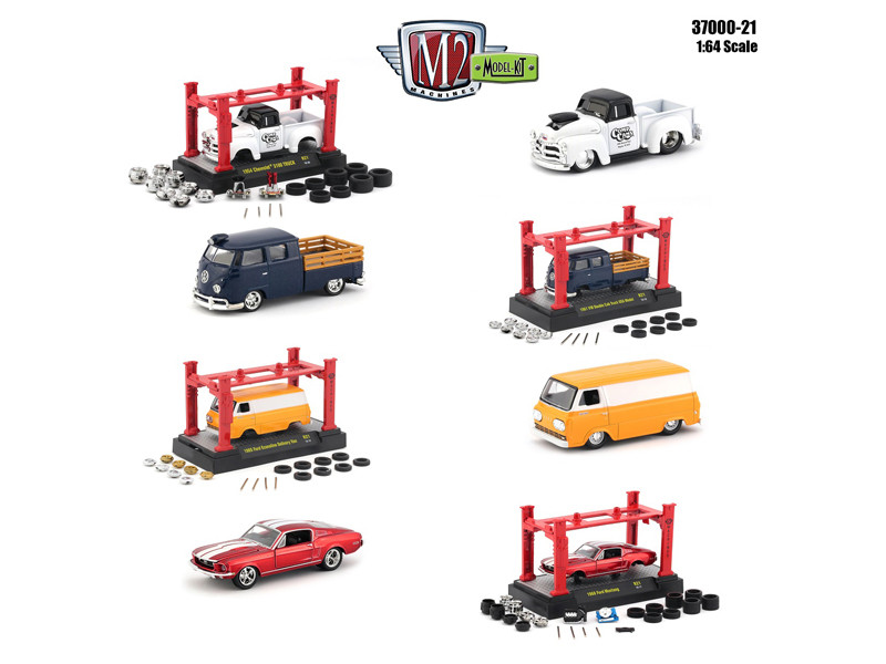Model Kit 4 pieces Set Release 21 1/64 Diecast Model Cars M2 Machines 37000-21