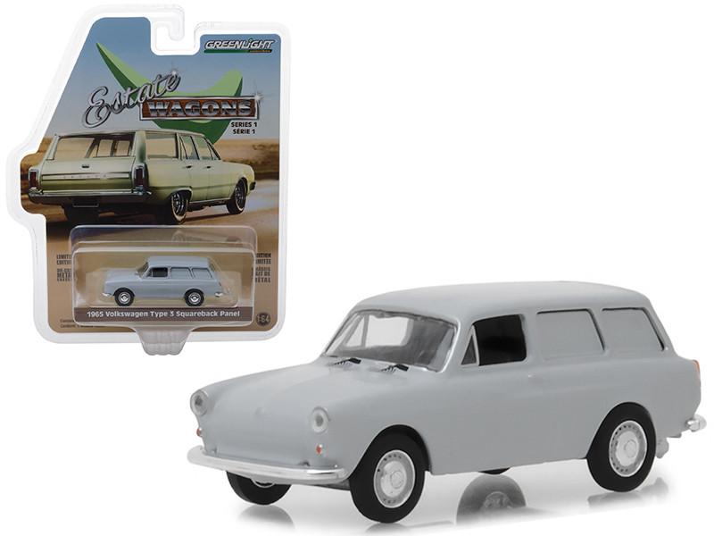 1965 Volkswagen Type 3 Squareback Panel Light Gray Estate Wagons Series 1 1/64 Diecast Model Car Greenlight 29910 C