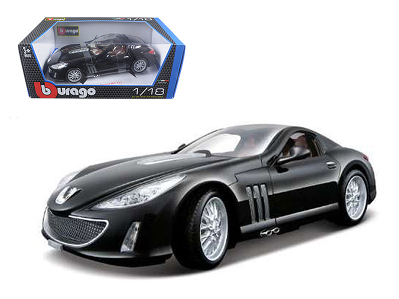 Peugeot 907 V12 Black 1/18 Diecast Model Car Bburago 12075