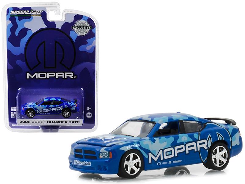 2008 Dodge Charger SRT8 MOPAR Edition Dark Blue Hobby Exclusive 1/64 Diecast Model Car Greenlight 29961