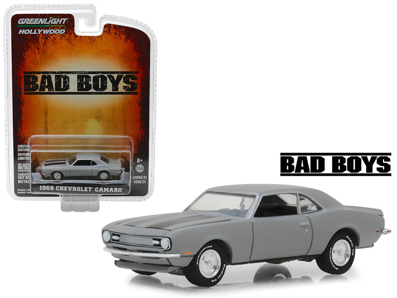 1968 Chevrolet Camaro Gray Bad Boys 1995 Movie Hollywood Series 21 1/64 Diecast Model Car Greenlight 44810 D