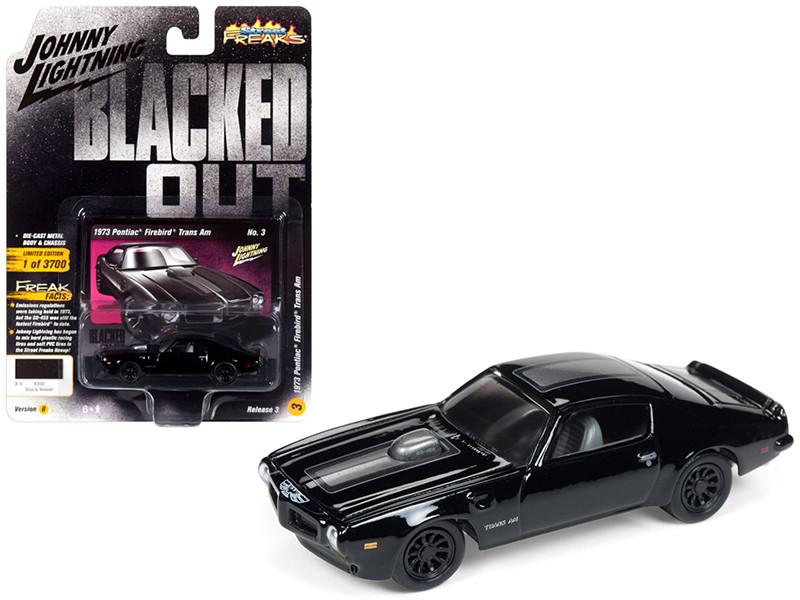 1973 Pontiac Firebird Trans Am Gloss Black Dark Silver Stripe Limited Edition 3700 pieces Worldwide 1/64 Diecast Model Car Johnny Lightning JLCP7121