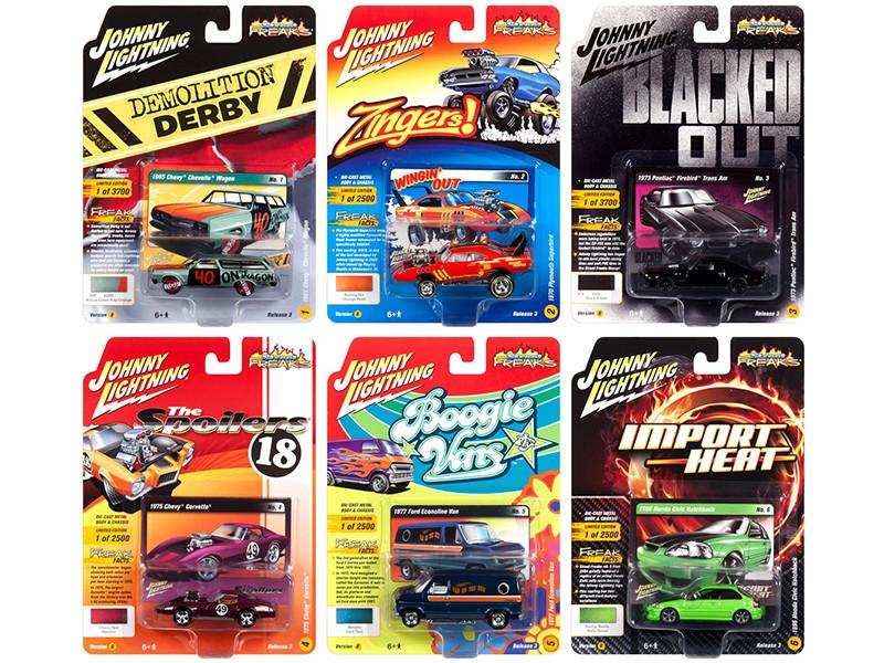 Street Freaks 2018 Release 3 Set B 6 Cars 1/64 Diecast Models Johnny Lightning JLSF009 B