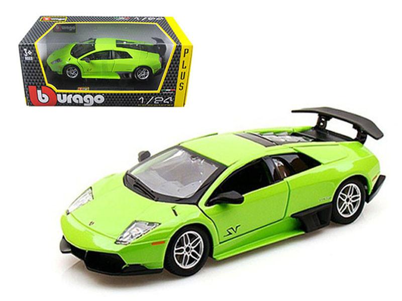 2010 Lamborghini Murcielago LP 670-4 SV Green 1/24 Diecast Model Car by Bburago