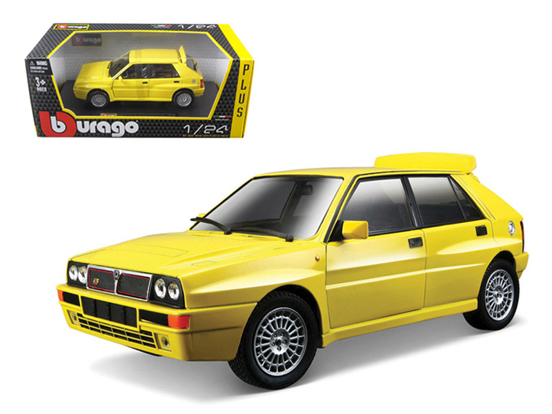 Lancia Delta HF Integrale Evo 2 Yellow 1/24 Diecast Car Model Bburago 21072
