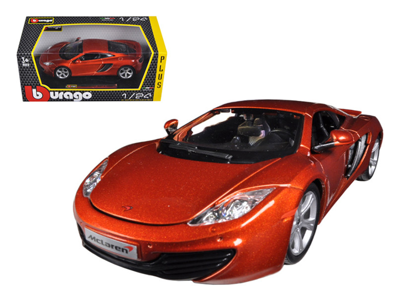 Mclaren MP4-12C Metallic Orange 1/24 Diecast Car Model by Bburago