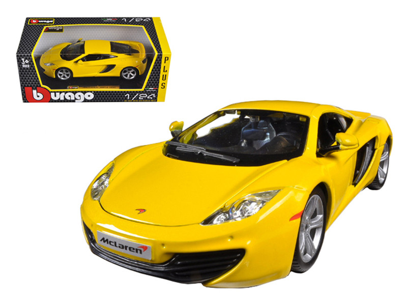 Mclaren MP4-12C Yellow 1/24 Diecast Car Model by Bburago