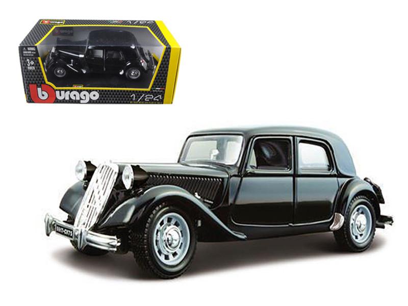 1938 Citroen 15 CV TA Black 1/24 Diecast Car Model by Bburago
