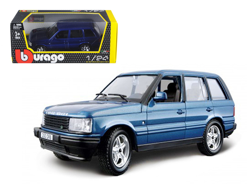 Land Rover Range Rover Blue 1/24 Diecast Car Model Bburago 22020