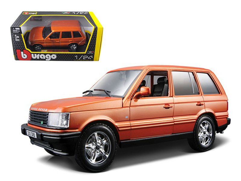 Land Rover Range Rover Orange 1/24 Diecast Car Model Bburago 22020