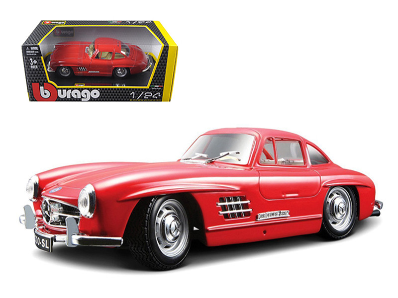 1954 Mercedes 300 SL Gullwing Red 1/24 Diecast Model Car by Bburago