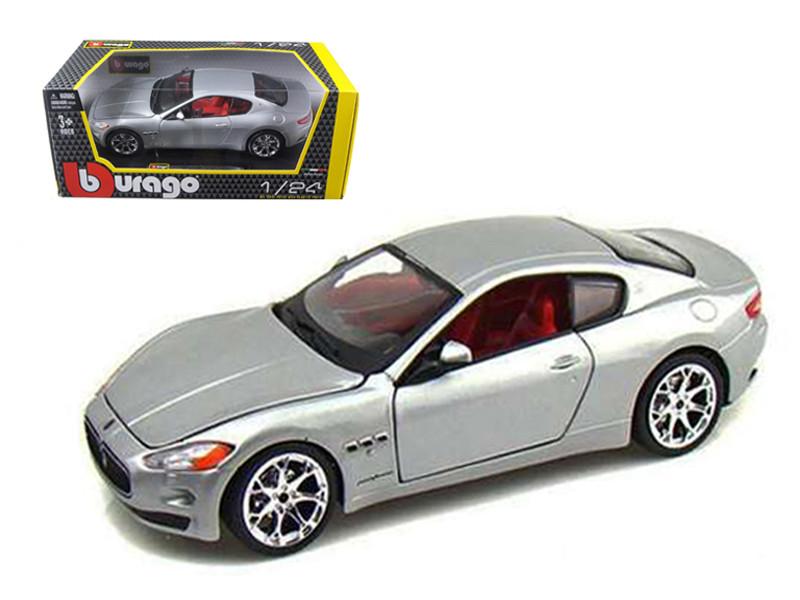 2008 Maserati Gran Turismo Silver/Gray 1/24 Diecast Car Model by Bburago