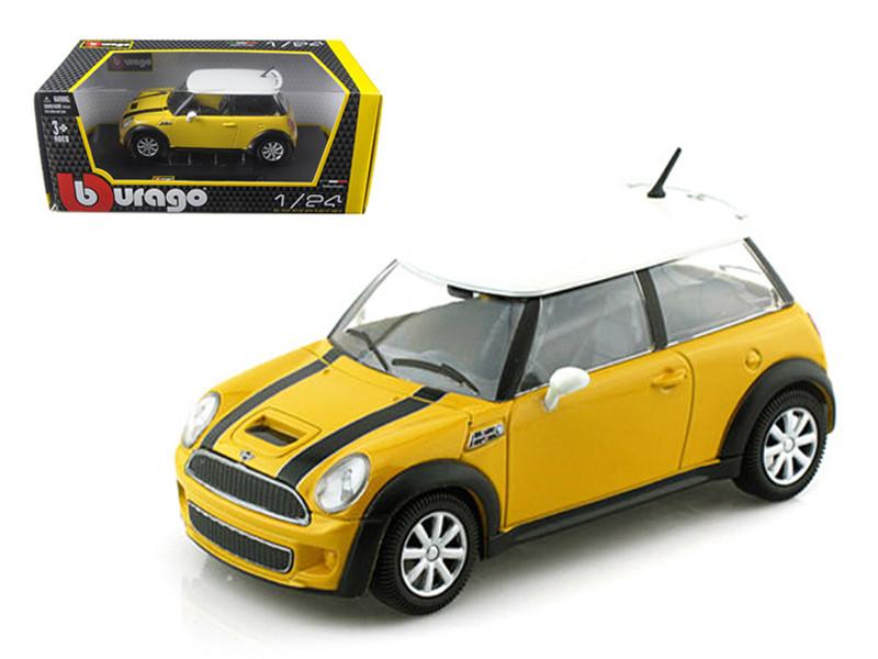 Mini Cooper S Coupe Yellow 1/24 Diecast Car Model Bburago 22124