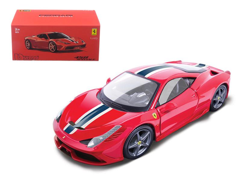 Ferrari 458 Speciale Red Signature Series 1/43 Diecast Model Car Bburago 36901