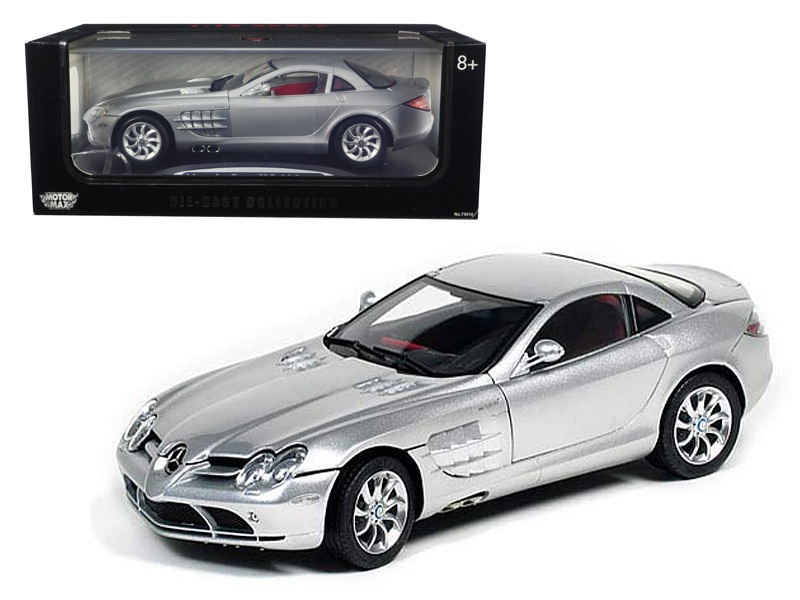 Mercedes McLaren SLR Silver 1/12 Diecast Model Car by Motormax
