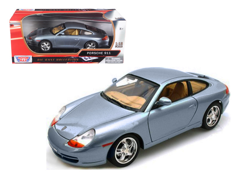 Porsche 911 Carrera Grey 1/18 Diecast Model Car Motormax 73101