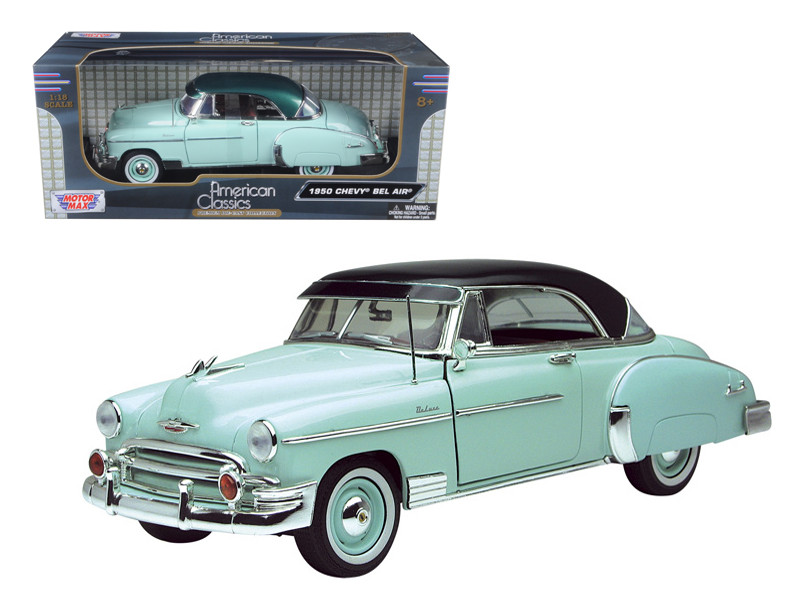 1950 Chevrolet Bel Air Green 1/18 Diecast Model Car Motormax 73111