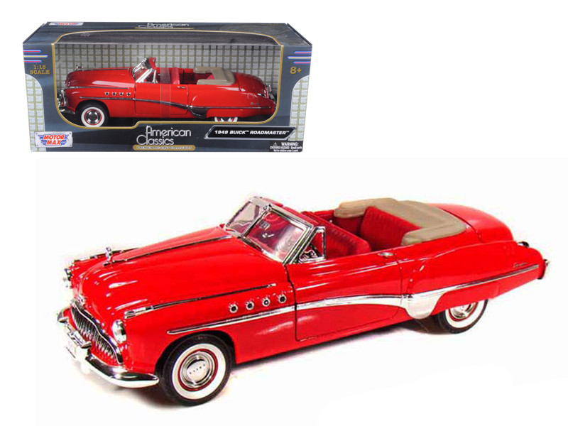 1949 Buick Roadmaster Red 1/18 Diecast Car Model by Motormax
