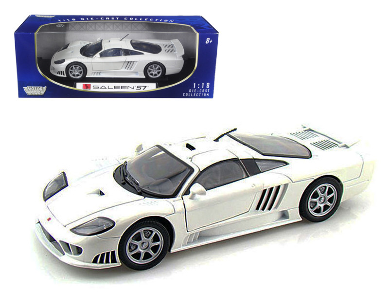 Saleen S7 White 1/18 Diecast Model Car Motormax 73117
