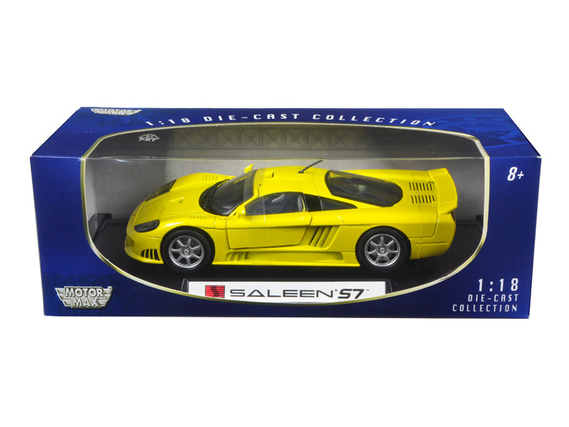 Saleen S7 Yellow 1/18 Diecast Model Car Motormax 73117