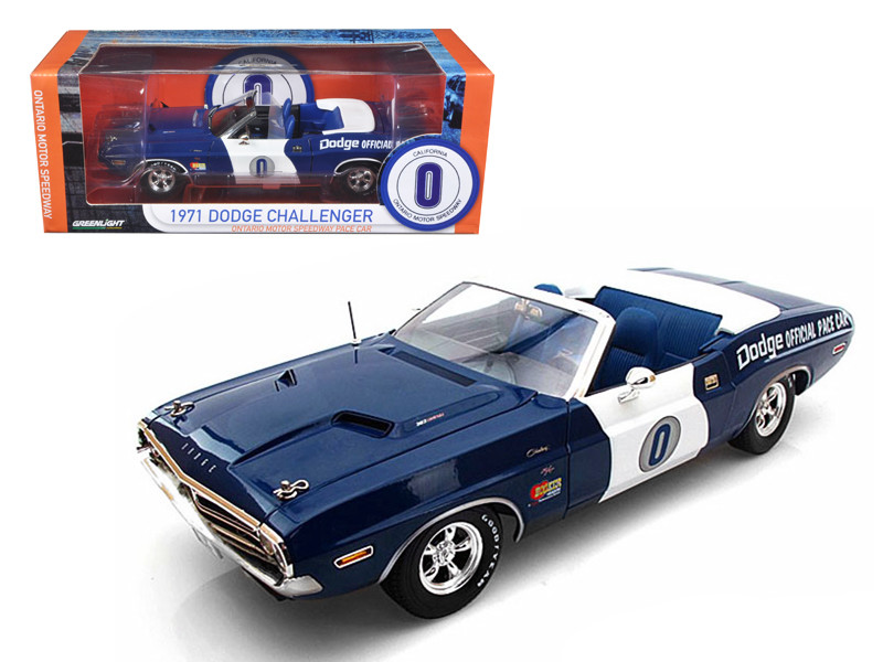 1971 Dodge Challenger Hemi Convertible Ontario Speedway Pace Car Limited to 1500pc 1/18 Diecast Model Car Greenlight 12871