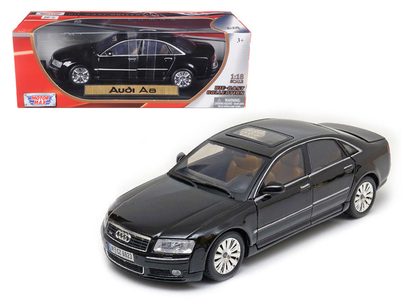 2004 Audi A8 Black 1/18 Diecast Car Model by Motormax