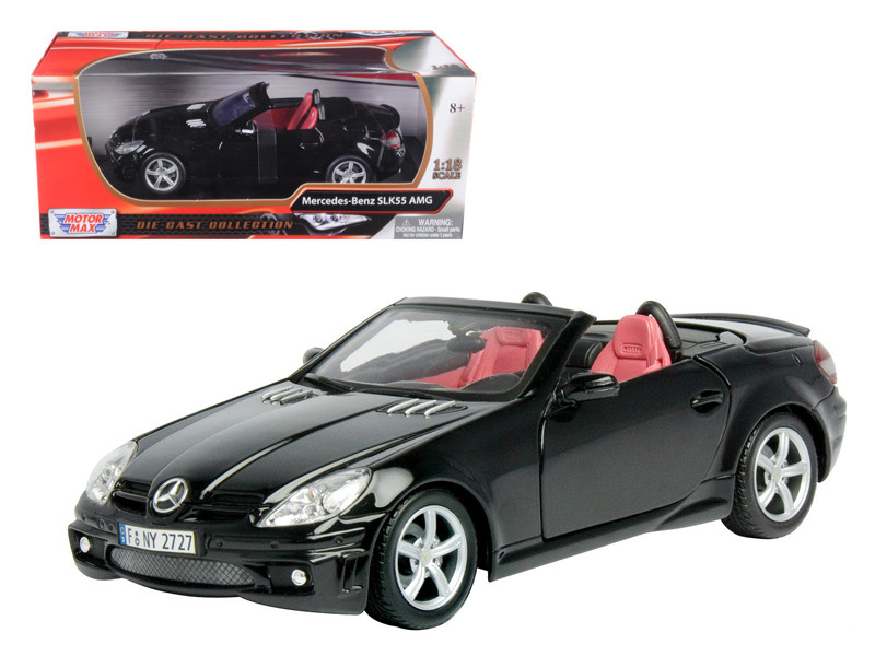 2005 Mercedes SLK55 AMG Black 1/18 Diecast Model Car by Motormax