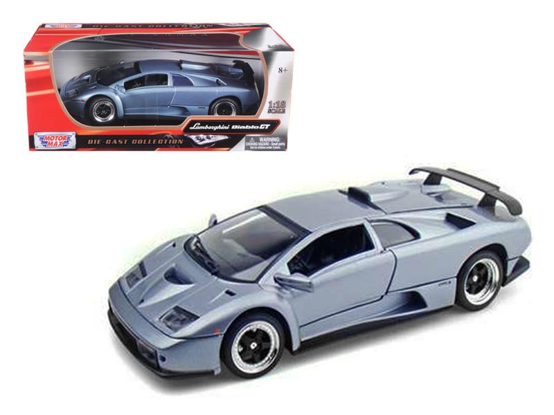 Lamborghini Diablo GT Silver 1/18 Diecast Model Car by Motormax