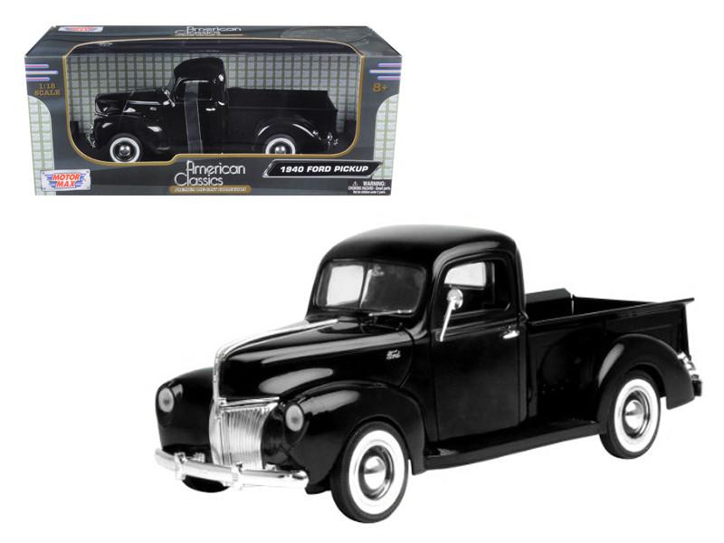 1940 Ford Pickup Black 1/18 Diecast Model Car by Motormax