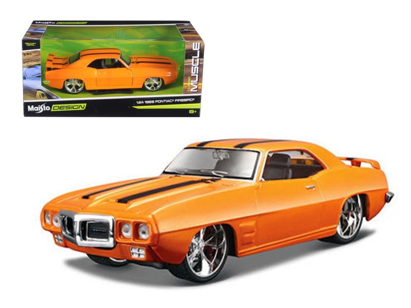 "1969 Pontiac Firebird Orange \Classic Muscle\"" 1/24 Diecast Model Car by Maisto"""""""