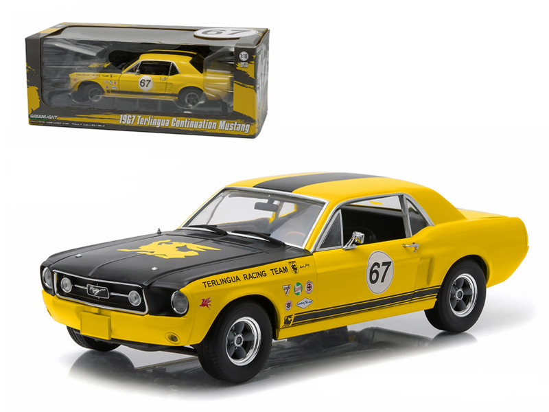 1967 Ford Terlingua Continuation Mustang #67 Jerry Titus & Ken Miles Racing Tribute Edition 1/18 Diecast Model Car by Greenlight