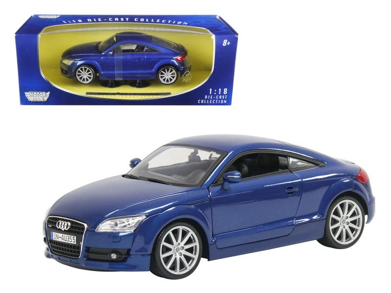 2007 Audi TT Blue 1/18 Diecast Car Model Motormax 73177