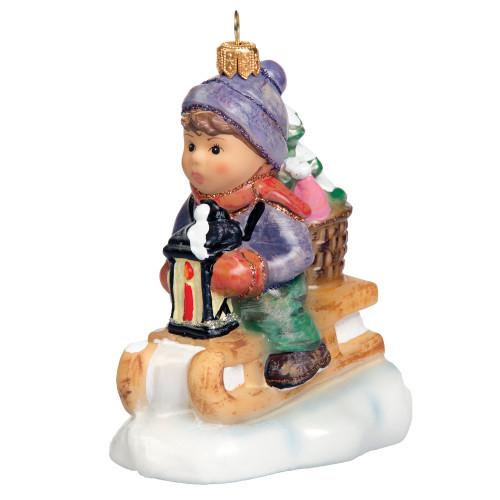 Ride into Christmas Ornament