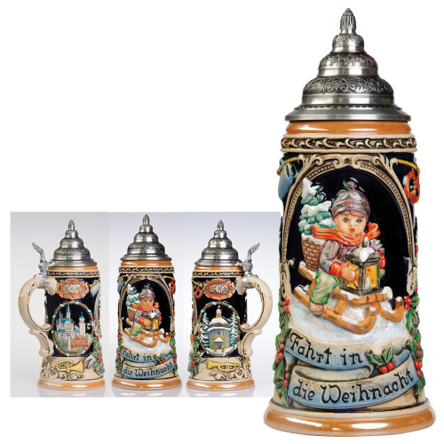 M.I. Hummel Ride Into Christmas Stein