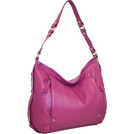 Italian Leather Hobo Bag Orchid