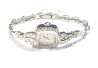 Vintage Ladies Bulova Diamond Watch in 14kt White Gold
