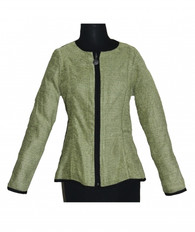 Peplum Reversible Jacket Bostonian Apple