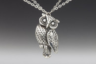 Silver Spoon Owl Necklace