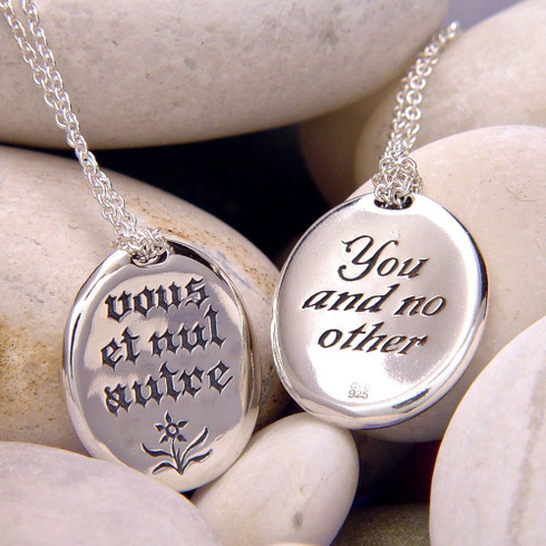 You and no other vous et nul autre necklace the crown jewel inscribed in french on front vous et nul autre inscribed in english on back aloadofball