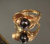 14k Gold Tahitian Pearl Ring