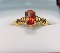 14k Gold Oval Oregon Sunstone Ring