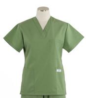 Scrub Med Womens Solid V-Poc Scrub Top Bay Leaf
