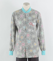 Scrub Med Womens Print Crew Neck Lab Jacket City Lights